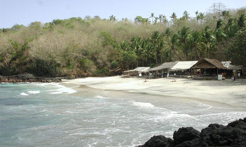 Padang Bai white sand beach.